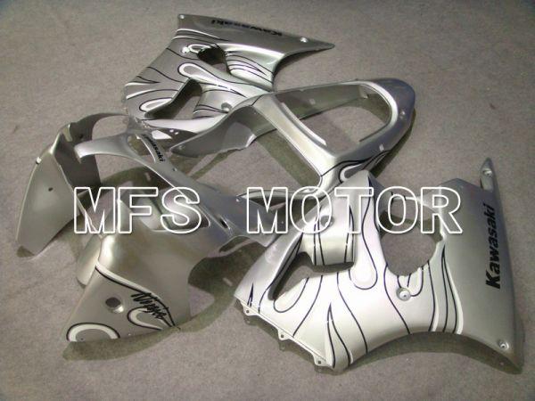 Kawasaki NINJA ZX6R 2000-2002 Injection ABS Fairing - Flame - Black Silver - MFS5563