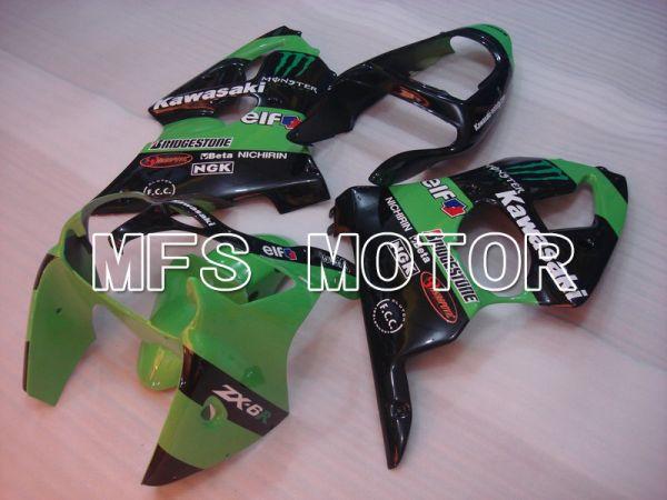 Kawasaki NINJA ZX6R 2000-2002 Injection ABS Fairing - Monster - Black Green - MFS5565