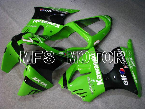 Kawasaki NINJA ZX6R 2000-2002 Injection ABS Fairing - Monster - Black Green - MFS5566