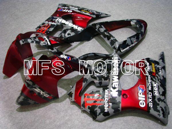 Kawasaki NINJA ZX6R 2000-2002 Injection ABS Fairing - Monster - Black Red - MFS5571