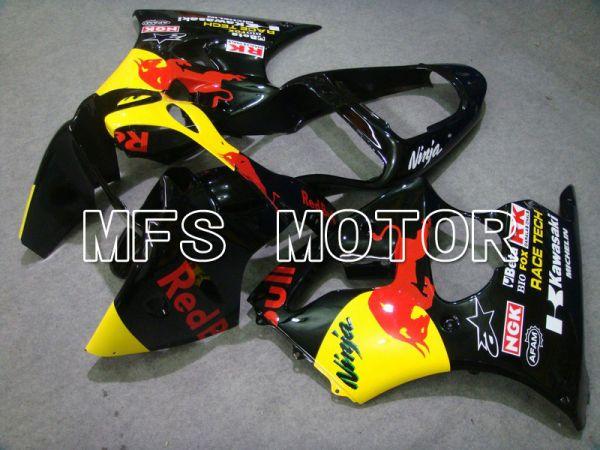 Kawasaki NINJA ZX6R 2000-2002 Injection ABS Fairing - Red Bull - Black - MFS5590