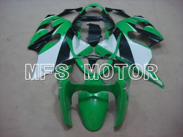 Kawasaki NINJA ZX6R 2000-2002 Injection ABS Fairing - Factory Style - Black Green - MFS5592