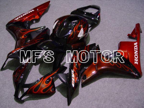 Honda CBR600RR 2007-2008 Injection ABS Fairing - Flame - Black Orange - MFS5613