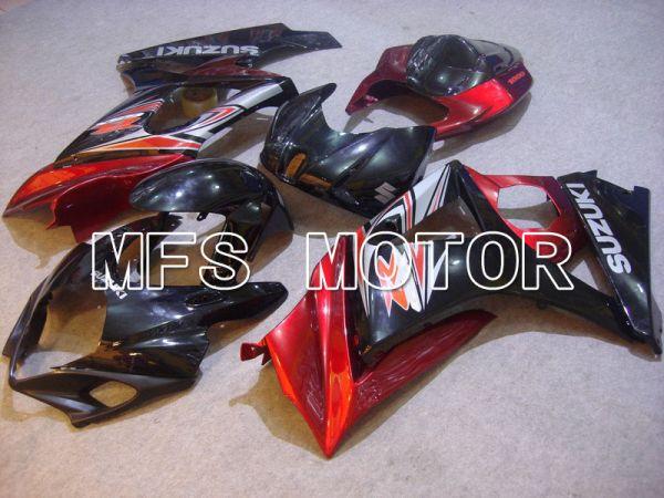 Suzuki GSXR1000 2007-2008 Injection ABS Fairing - Factory Style - Black Red - MFS5670
