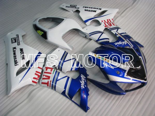 Kawasaki NINJA ZX6R 2005-2006 Injection ABS Fairing - FIAT - Blue White - MFS5684