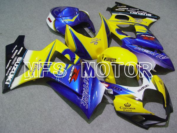 Suzuki GSXR1000 2007-2008 Injection ABS Fairing - Corona - Blue Yellow - MFS5685
