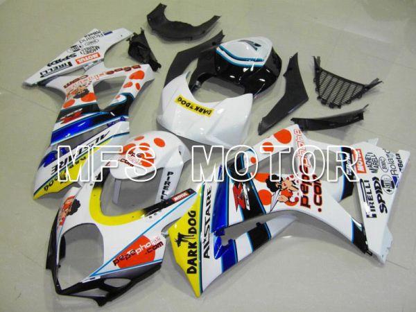 Suzuki GSXR1000 2007-2008 Injection ABS Fairing - Dark Dog - White Blue - MFS5690