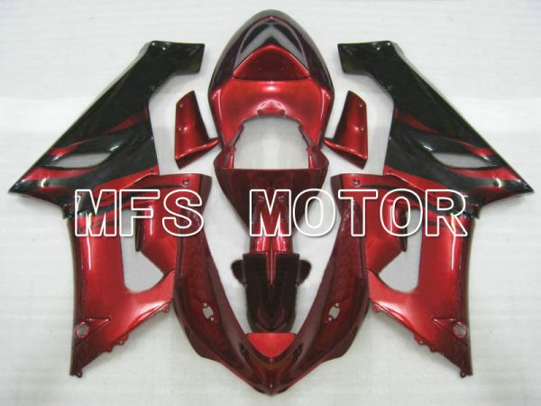 Kawasaki NINJA ZX6R 2005-2006 Injection ABS Fairing - Factory Style - Black Red - MFS5693