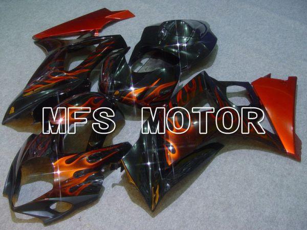 Suzuki GSXR1000 2007-2008 Injection ABS Fairing - Flame - Black Orange - MFS5698