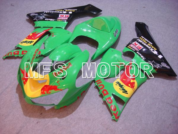 Kawasaki NINJA ZX6R 2005-2006 Injection ABS Fairing - Red Bull - Green - MFS5710