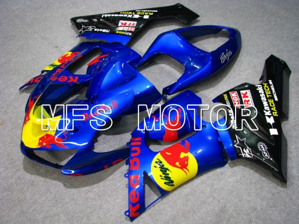 Kawasaki NINJA ZX6R 2005-2006 Injection ABS Fairing - Red Bull - Blue - MFS5712