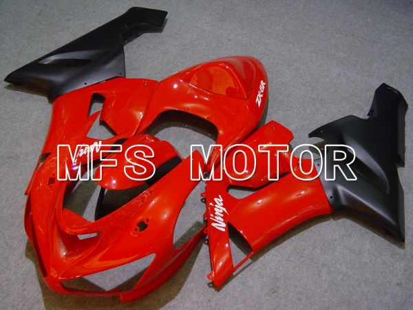 Kawasaki NINJA ZX6R 2005-2006 Injection ABS Fairing - Factory Style - Black Red - MFS5723