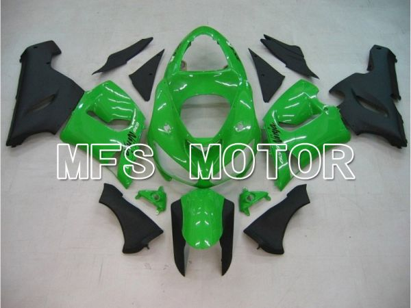 Kawasaki NINJA ZX6R 2005-2006 Injection ABS Fairing - Factory Style - Black Green - MFS5724