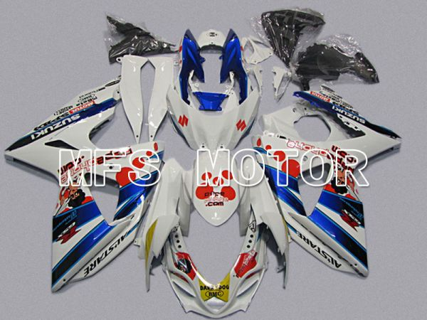 Suzuki GSXR1000 2009-2016 Injection ABS Fairing - Dark Dog - White Blue - MFS5755