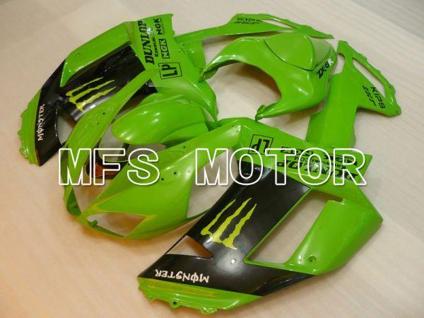 Kawasaki NINJA ZX6R 2007-2008 Injection ABS Fairing - Monster - Black Green - MFS5762
