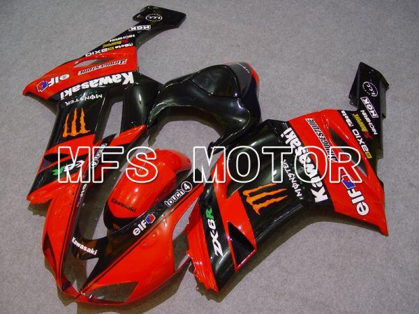Kawasaki NINJA ZX6R 2007-2008 Injection ABS Fairing - Monster - Black Red - MFS5764