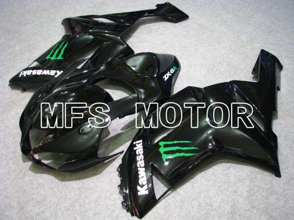 Kawasaki NINJA ZX6R 2007-2008 Injection ABS Fairing - Monster - Black - MFS5765