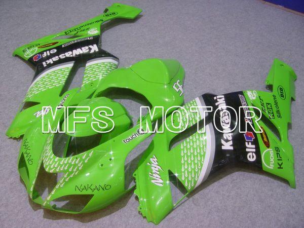 Kawasaki NINJA ZX6R 2007-2008 Injection ABS Fairing - Factory Style - Black Green - MFS5779