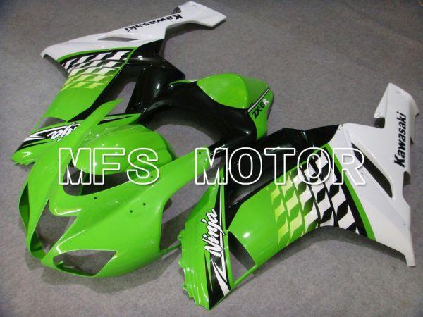 Kawasaki NINJA ZX6R 2007-2008 Injection ABS Fairing - Factory Style - Black Green - MFS5783