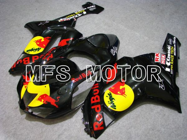 Kawasaki NINJA ZX6R 2007-2008 Injection ABS Fairing - Red Bull - Black - MFS5791