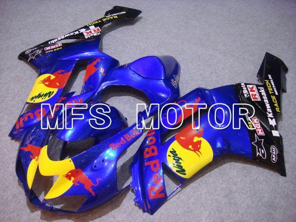Kawasaki NINJA ZX6R 2007-2008 Injection ABS Fairing - Red Bull - Blue - MFS5793