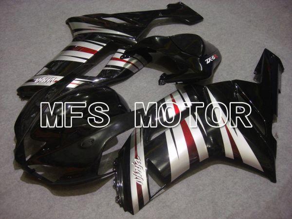 Kawasaki NINJA ZX6R 2007-2008 Injection ABS Fairing - Factory Style - Black Silver - MFS5794
