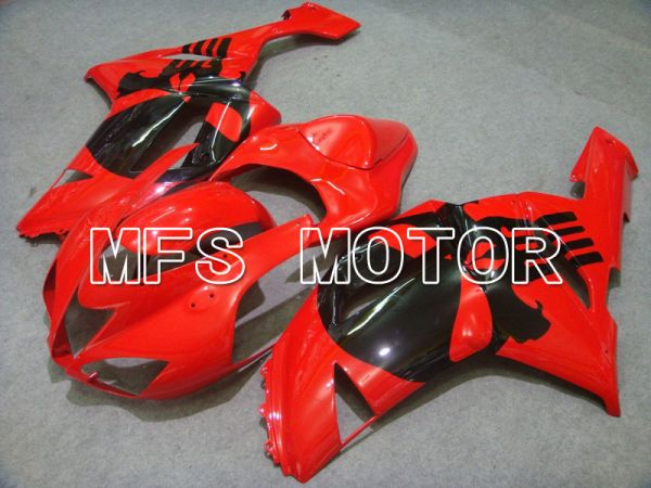Kawasaki NINJA ZX6R 2007-2008 Injection ABS Fairing - Factory Style - Black Red - MFS5797