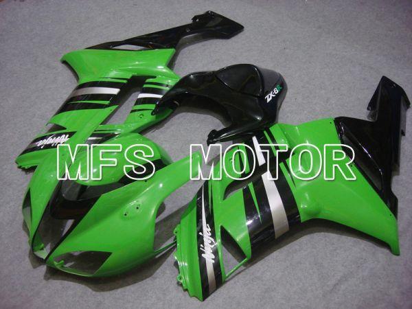 Kawasaki NINJA ZX6R 2007-2008 Injection ABS Fairing - Factory Style - Black Green - MFS5798