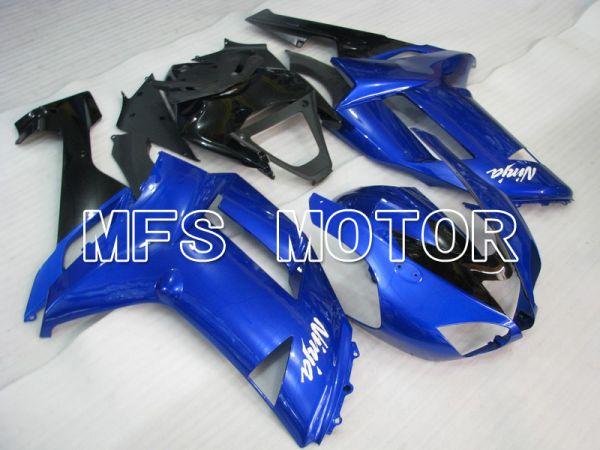 Kawasaki NINJA ZX6R 2007-2008 Injection ABS Fairing - Factory Style - Black Blue - MFS5801