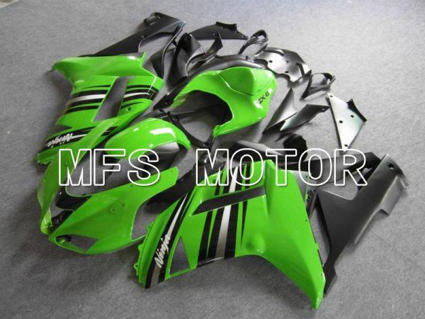 Kawasaki NINJA ZX6R 2007-2008 Injection ABS Fairing - Factory Style - Black Green - MFS5802