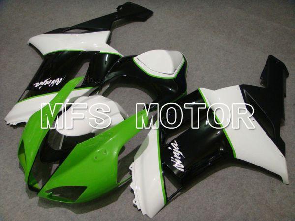 Kawasaki NINJA ZX6R 2007-2008 Injection ABS Fairing - Factory Style - Black Green White - MFS5803
