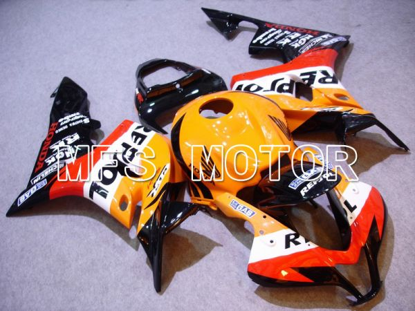 Honda CBR600RR 2007-2008 Injection ABS Fairing - Repsol - Black Red Orange - MFS5808