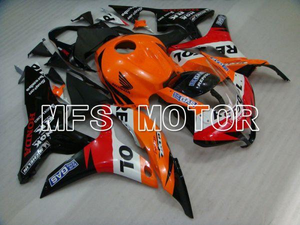 Honda CBR600RR 2007-2008 Injection ABS Fairing - Repsol - Black Red Orange - MFS5809