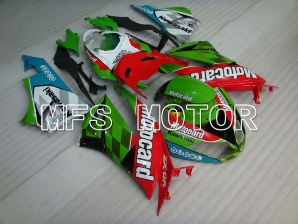 Kawasaki NINJA ZX6R 2009-2012 Injection ABS Fairing - Motocard - Red Green - MFS5823