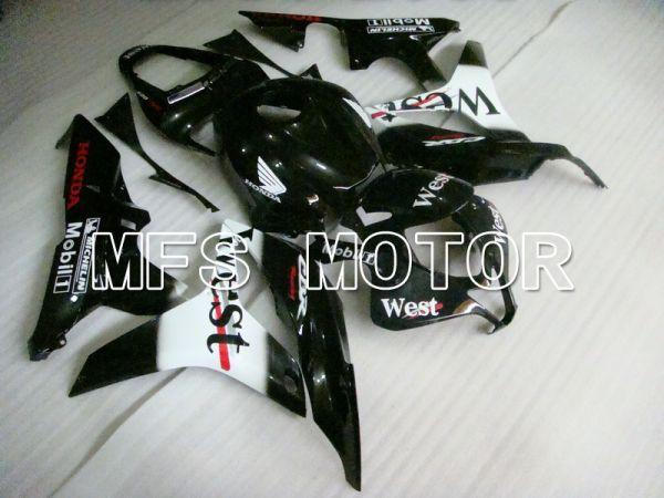 Honda CBR600RR 2007-2008 Injection ABS Fairing - West - Black White - MFS5831