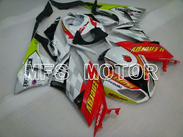 Kawasaki NINJA ZX6R 2009-2012 Injection ABS Fairing - H.Energy - Red White - MFS5832