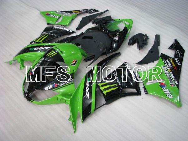 Kawasaki NINJA ZX6R 2009-2012 Injection ABS Fairing - Monster - Black Green - MFS5834