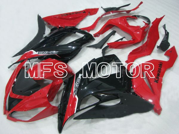 Kawasaki NINJA ZX6R 2013-2017 Injection ABS Fairing - Factory Style - Black Red - MFS5837