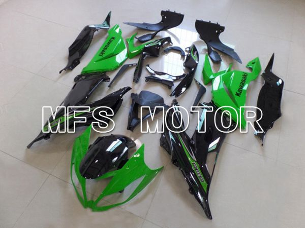 Kawasaki NINJA ZX6R 2013-2017 Injection ABS Fairing - Factory Style - Black Green - MFS5843