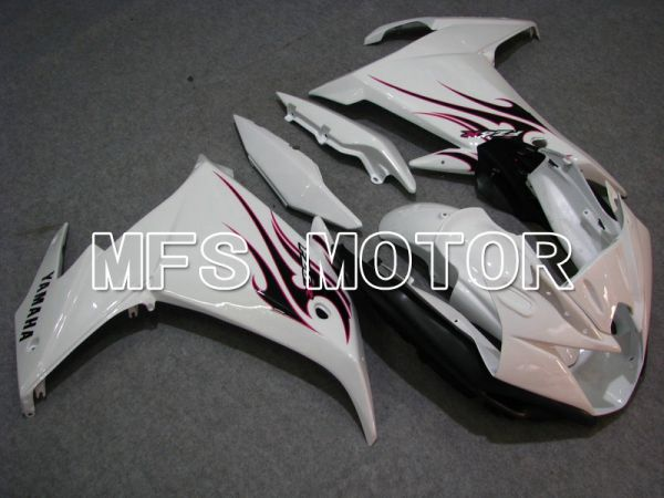 Yamaha FZ6R 2009 ABS Fairing - Flame - White - MFS5850