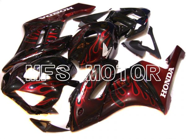 Honda CBR1000RR 2004-2005 Injection ABS Fairing - Flame - Red Black - MFS5854