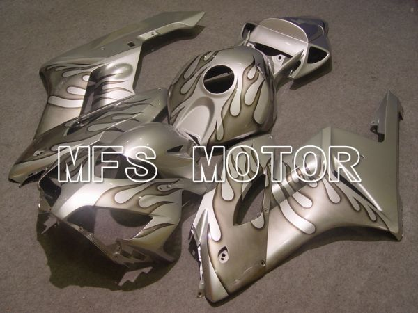 Honda CBR1000RR 2004-2005 Injection ABS Fairing - Flame - Gray Silver - MFS5859