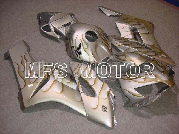 Honda CBR1000RR 2004-2005 Injection ABS Fairing - Flame - Yellow Silver- MFS5860