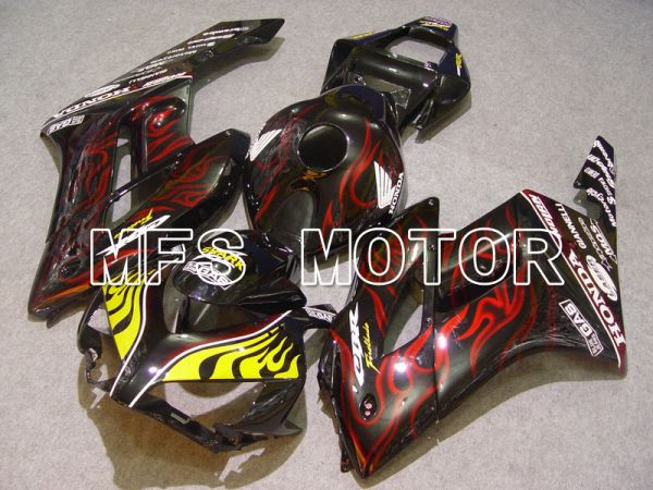 Honda CBR1000RR 2004-2005 Injection ABS Fairing - Flame - Red Black - MFS5866