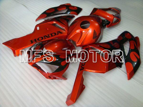 Honda CBR1000RR 2004-2005 Injection ABS Fairing - Flame - Orange Black - MFS5874