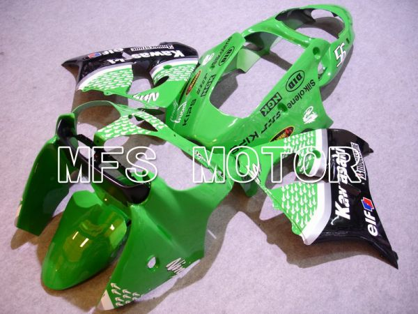 Kawasaki NINJA ZX9R 2000-2001 ABS Fairing - Factory Style - Black Green - MFS5895