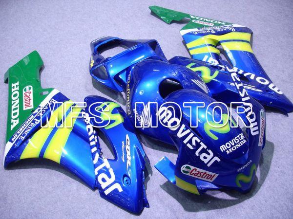 Honda CBR1000RR 2004-2005 Injection ABS Fairing - Movistar - Yellow Green Blue - MFS5905