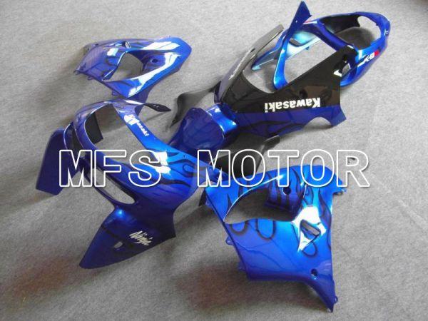 Kawasaki NINJA ZX9R 1998-1999 ABS Fairing - Flame - Blue Black - MFS5925