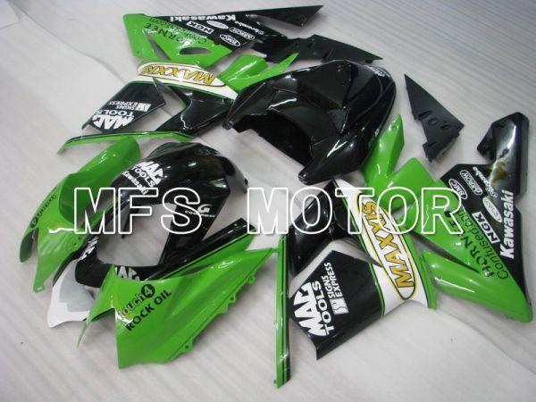 Kawasaki NINJA ZX10R 2004-2005 Injection ABS Fairing - MAXXIS - Black Green - MFS5944