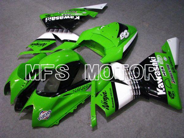 Kawasaki NINJA ZX10R 2004-2005 Injection ABS Fairing - Factory Style - Black Green - MFS5946